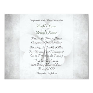 Lucky Heart Leaf Clover Irish Wedding Invitation at Zazzle