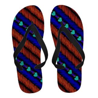 Lucky Hearts Child Art Black Stripe Sandals