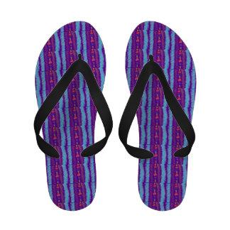 Lucky Hearts Child Art Blue Purple Amethyst Sandals