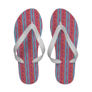 Lucky Hearts Child Art Cranberry Pink Abstract Sandals