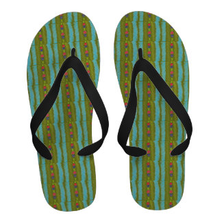 Lucky Hearts Child Art Pacifika Green Abstract Sandals