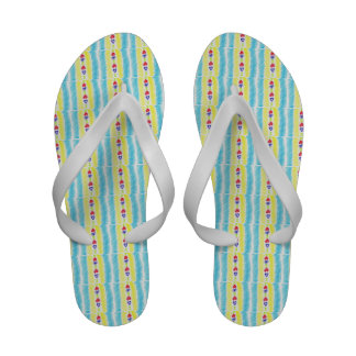 Lucky Hearts Child Art Red Blue Abstract Sandals