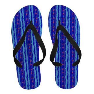 Lucky Hearts Child Art Sapphire Blue Sandals