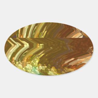 Lucky High Energy Golden Crystal Oval Sticker