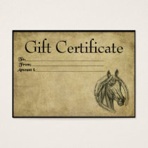 Lucky Horse- Prim Gift Certificate Cards
