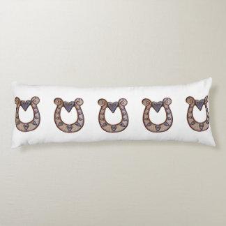 Lucky horse shoe body pillows. body pillow