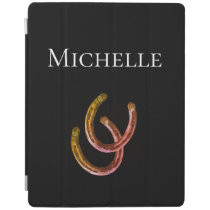 Lucky Horsehoe Monogram Rustic Cowgirl iPad Smart Cover