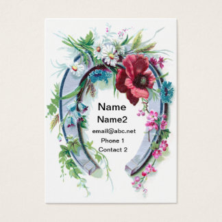 Lucky Horseshoe and Poppy Business Card