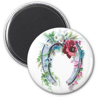 Lucky Horseshoe and Poppy Magnet
