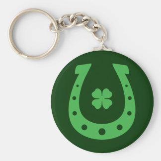 Lucky Horseshoe Basic Round Button Keychain
