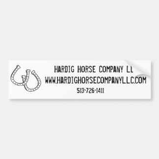 Lucky Horseshoe Bumper Sticker