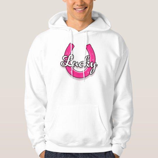 Lucky Horseshoe Hoodie (pink)