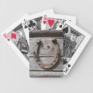 Lucky Horseshoe Playing Cards at Zazzle