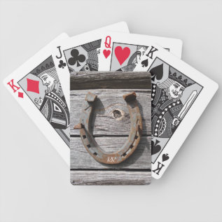 Lucky Horseshoe Playing Cards at Zazzle
