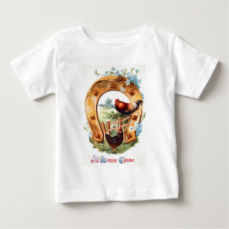 Lucky Horseshoe Rooster Forget Me Not Baby T-Shirt
