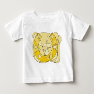 Lucky Horseshoe Scribble Art Baby T-Shirt