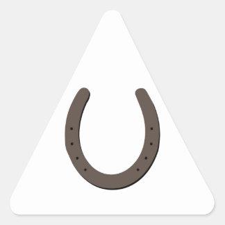 Lucky Horseshoe Triangle Sticker