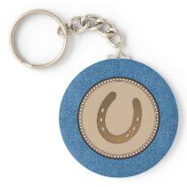 Lucky Horseshoe Western Keychain