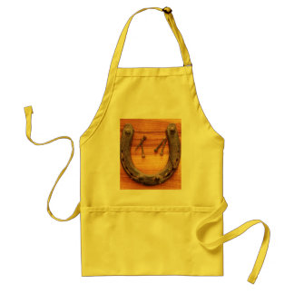 Lucky Horseshoe with Nails Adult Apron
