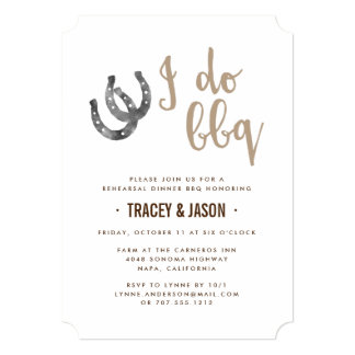 Lucky Horseshoes I Do BBQ Invitation