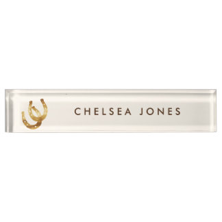 Lucky Horseshoes Personalized Name Plate