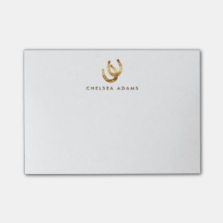 Lucky Horseshoes Personalized Post-it® Notes