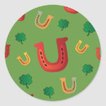 Lucky Horseshoes Round Sticker