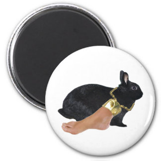 Lucky Human's Foot 2 Inch Round Magnet
