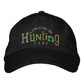 Lucky Hunting Embroidery Hat Baseball Cap