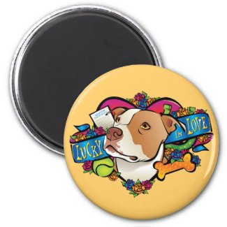 Lucky in Love 2 Inch Round Magnet