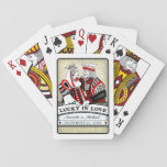 """Lucky in Love Black Red &amp; White Playing Cards<br><div class=""""desc"""">Lucky in Love Black Red &amp; White Playing Cards  Art &amp; Design by Julie Alvarez    To view this wedding collection,   PLEASE CLICK ON THE PICTURE BELOW</div>"""