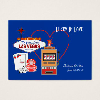 Lucky in Love Blue Place Cards