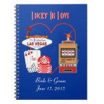 Lucky in Love Blue Wedding Notebook