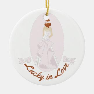 Lucky In Love Ceramic Ornament