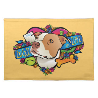 Lucky in Love Cloth Placemat