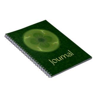 Lucky in Love Clover & Hearts Fractal Spiral Notebooks