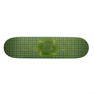 Lucky in Love Clover & Hearts Fractal Skateboard Deck