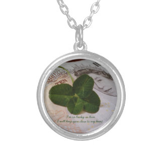 Lucky in Love ,four Leaf Clover necklace.