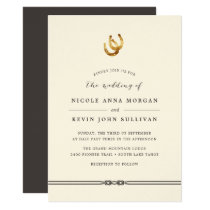 Lucky in Love | Horseshoe Wedding Invitation