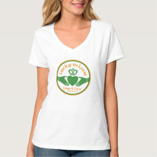 Lucky in Love Irish St Patricks Day Wedding T-Shirt