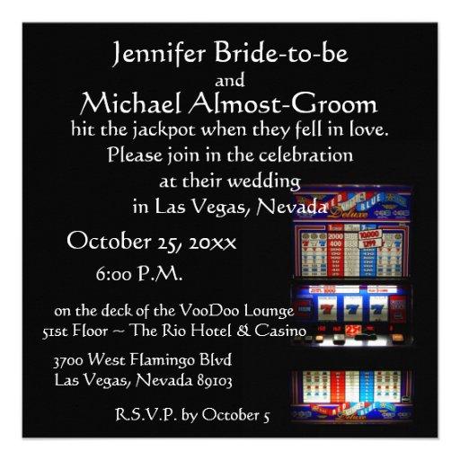 Lucky in Love Las Vegas Casino Wedding Personalized Invite