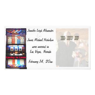 Lucky in Love Las Vegas Wedding Announcement