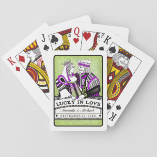 Lucky in Love Lavender & Lime Playing Cards