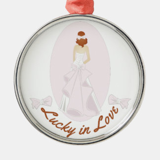 Lucky In Love Metal Ornament