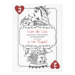 Lucky in Love Save the Date - 2 of Hearts Custom Invites