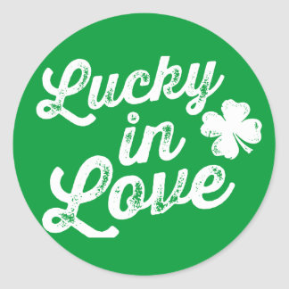 Lucky In Love St. Paddy's Day Classic Round Sticker