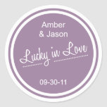 Lucky in Love Sticker - Lilac