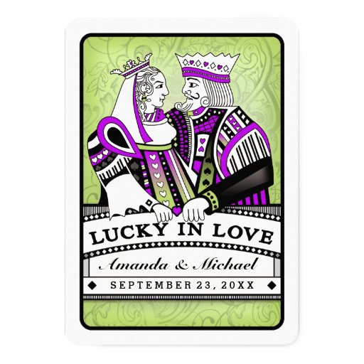 Lucky In Love Together With Families Wedding 5x7 Paper Invitation Card Zazzle