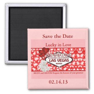 Lucky in Love Wedding in Las Vegas Magnet