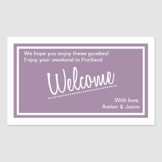 Lucky In Love -  Welcome Bag Sticker - Lilac